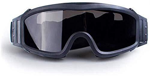 YASE-king UV-Schutz Brillen Skibrillen Panzerbrille Schießbrille Explosionsgeschützte Tactical Goggles (Color : Black)
