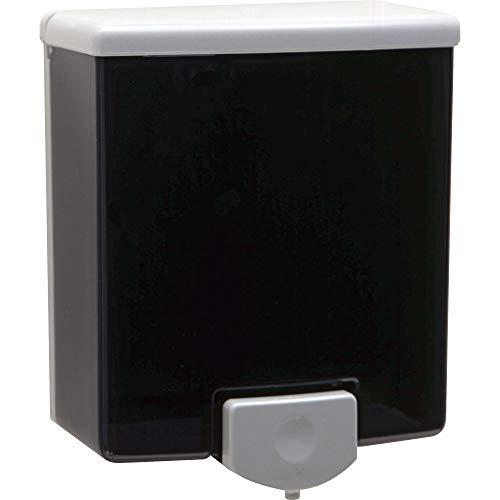 "Bobrick Wall Mount Liquid Soap Dispenser, Black,Gray,Translucent, 6.9"" x 5.9"" x 3.1"""