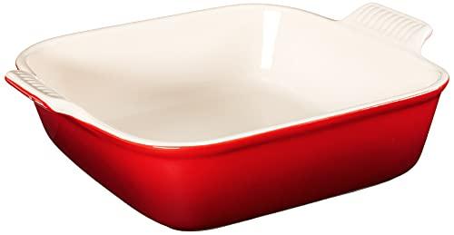 "Le Creuset Stoneware Heritage Square Dish, 3 qt. (9""), Cerise"