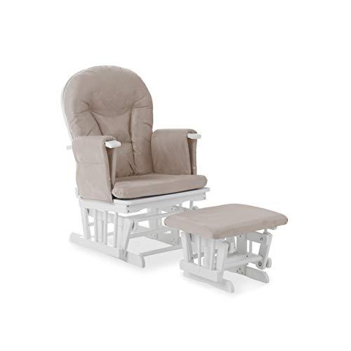 Obaby Stuhl und Hocker, mit Liegestuhl, mit Sandkissen, Weiß