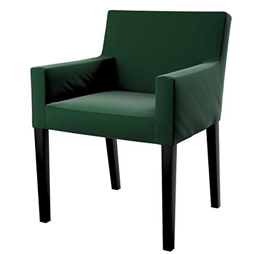 Dekoria Nils Stuhlhusse Husse Stuhlbezug Stuhlkissen passend für IKEA Modell Nils grün