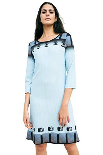Vestido de Mujer de Neopreno Midi Azul con cámaras de Fotos Antiguas.100% diseñado y Fabricado en España y con el Sello de Artesanía de la CV.para Las más discretas! (M)