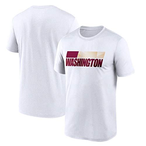 Jersey de fútbol de la NFL Washington Top de Manga Corta de tamaño más Suelto Traje de Entrenamiento de Camiseta de Secado rápido Camiseta Casual Jersey,XXXL