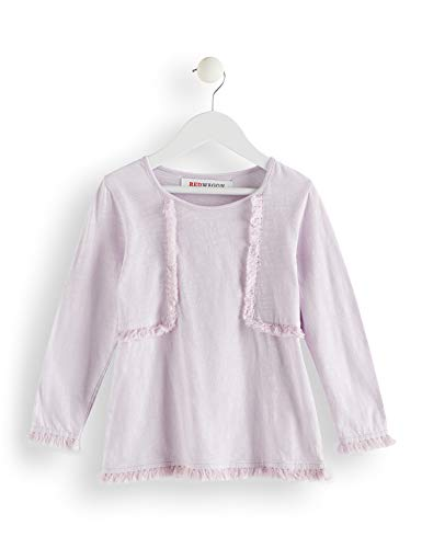 Marca Amazon - RED WAGON Top Manga Larga con Flecos Niñas, Morado (Lavender Fog), 110, Label:5 Years