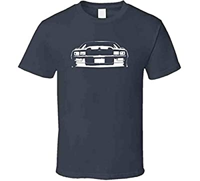 1991 1992 Camaro Bowtie Grill View Faded Look Black T Shirt L Charcoal Grey