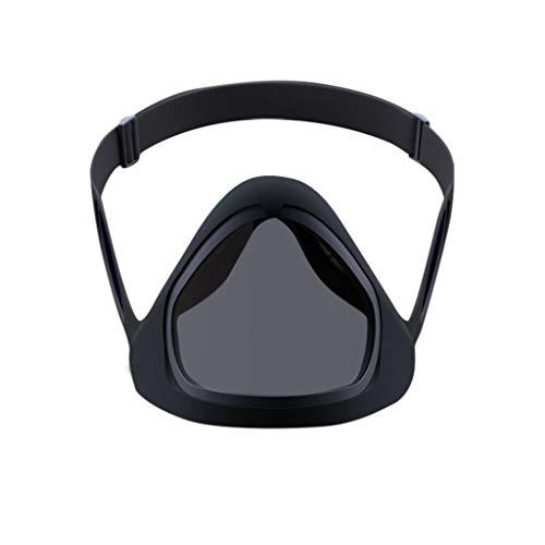 Eariy máscara facial reutilizable transpirable, abierta la máscara magnética inteligente con doble antiniebla, gel de sílice protector