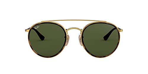 Ray-Ban 0RB3647N, Gafas de Sol Unisex Adulto, Marrón (Gold/Green Classic), 51