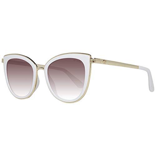 Guess GU7491 21G 52 Monturas de gafas, Blanco (BiancoMarrone Specchiato), 52.0 Unisex Adulto