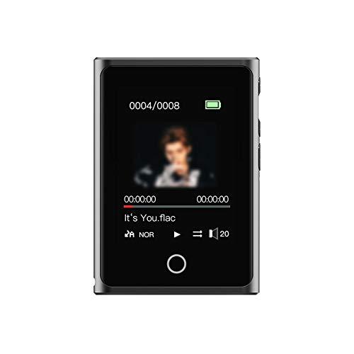 Jiasi MP3 Player,16GB MP3 Bluetooth 2.0' Reproductor De MP3 Pantalla Táctil Completa HiFi Sin Pérdida De Sonido MP3 Running, FM Radio, Grabadora De Voz para Amantes del Deporte