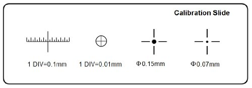 Microscope Stage Micrometer Calibration Slide (TCM-H) with 4-Scales and 0.01mm Line Resolution