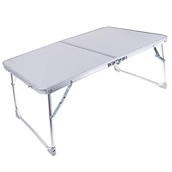 B Baosity Mini Bureau Pliant Table de Camping Barbecue Table Fête de Jardin Salle à Manger - Argenté