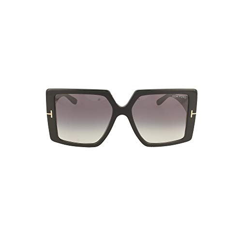 Tom Ford QUINN FT 0790 Shiny Black/Dark Grey Shaded 57/17/135 Damen Sonnenbrillen
