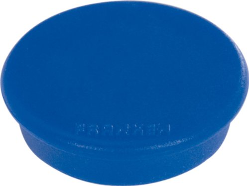 Franken HMS36 03 Magnet (Durchmesser 38 mm, Haftkraft 2500 g) 10 Stück, blau