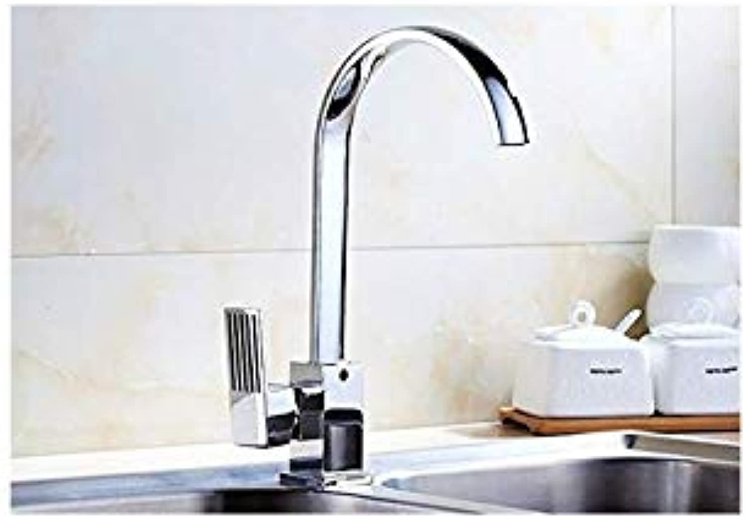 Kitchen Faucet Hot and Cold Water Trough Faucet Basin Wash Basin Dual-Purpose Copper Valve Body Kitchen Faucet Basin Faucet
