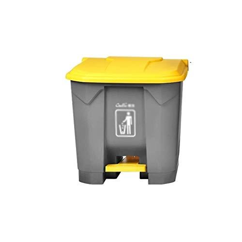 JUIO La basura al aire libre puede, Pedal plástico Cubo de basura, Parque for Wrst centro comercial estacionamiento de un supermercado restaurante de cocina multifunción Refuse Bin, 30l, 45l, 68l, 87L