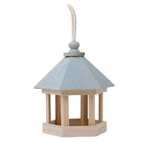 XYXZ Bird Seed Feeder Tray Hängende Hölzerne Bird Feeder Gartendekoration Fütterungsbedarf Haustierbedarf 17X20Cm