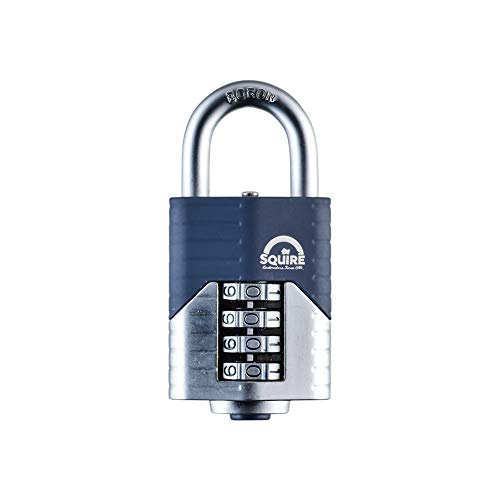 SQUIRE Vulcan Combination Padlock. Patented Design Boron Steel Shackle Recodable Padlock, 4 and 5 Wheels configurations. (4 Wheel - 50 mm)