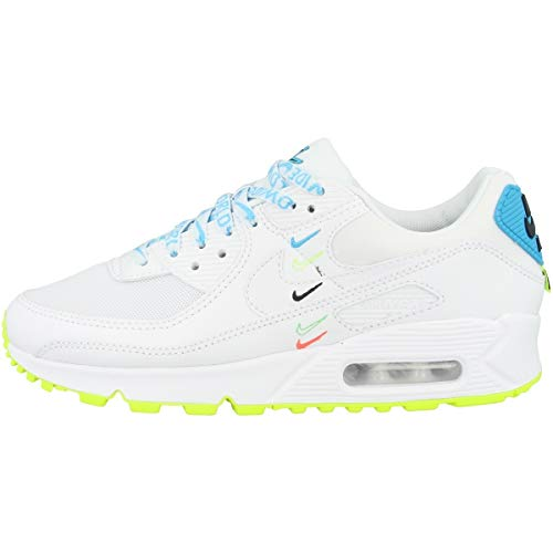 Nike Low Air Max 90 Worldwide - Zapatillas para mujer, color Blanco, talla 43 EU