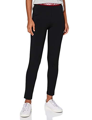 Tommy Jeans Damen Tjw Branded Waistband Legging Hose, Schwarz, XL