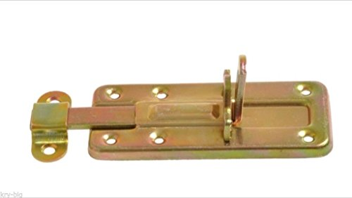 Kellerriegel, Torriegel, Türriegel, Schubriegel, für Vorhängeschloss,100 mm, gelb verzinkt