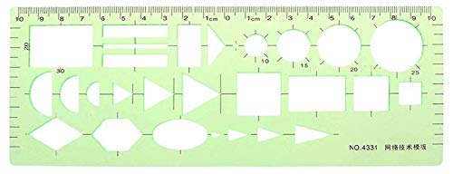 Tape Measures Kreisschablone Geometrische Zeichnungen Vorlage Messleitmaschine Kunststoff Quadrat Runde Messvorlage Schablone Gebäude Schalung Zeichnungen Vorlagen Lineal