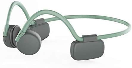 NCRD Auriculares de conducción ósea con micrófono Bluetooth 5.0 Auriculares inalámbricos for Orejas Abiertas for Correr, Deportes, Fitness (Color : Green)