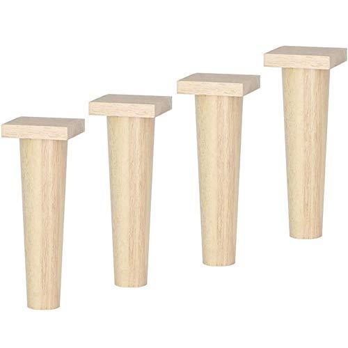 Massivholz-Möbelbeine, Sofa und TV-Schrankbeine, Schrankbeine, Couchtisch-Beine und Ankleideretisch-Beine, Möbelbeinzubehör, erhöhte Beine, Holzbeinstütze (4 Stück)-24,5 cm
