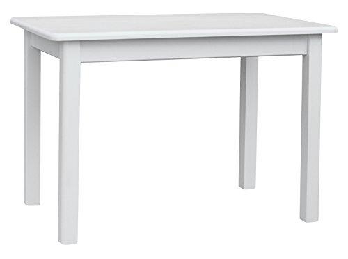 koma Esstisch Küchentisch 100 x 60cm Speisetisch Kiefer Tisch massiv Restaurant Hersteller NEU (Weiss)
