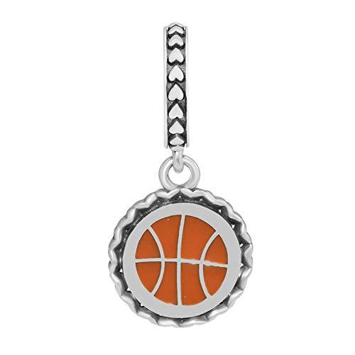 Joyería De Plata De Ley 925 para Mujer Abalorios De Baloncesto Se Ajustan A Pulseras Pandora Europeas Collares Fabricación De Joyas DIY