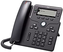 Cisco IP Phone 6841 with Multi-Platform Phone Firmware, 3.5-inch Grayscale Display, Regional Power Adapter Included, 4 SIP Registrations (CP-6841-3PW-NA-K9=)
