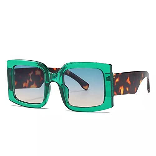 HHAA Gafas De Sol Cuadradas Retro De Gran Tamaño para Mujer, Montura Grande, Gafas De Sol Coloridas para Mujer, Marca De Lujo, Sombras Vintage, Gafas De Moda