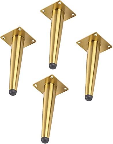 ZJDM 4 Piezas de Patas de Muebles, Patas Rectas cónicas, Patas de Metal para Mesa, Patas de Apoyo, Patas de sofá, Patas de Armario, adecuadas para Todo Tipo de Muebles de Bricolaje, Pueden Cargar