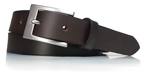 almela Cinturón mujer piel de vaquetilla estrecho (Marrón, 110)