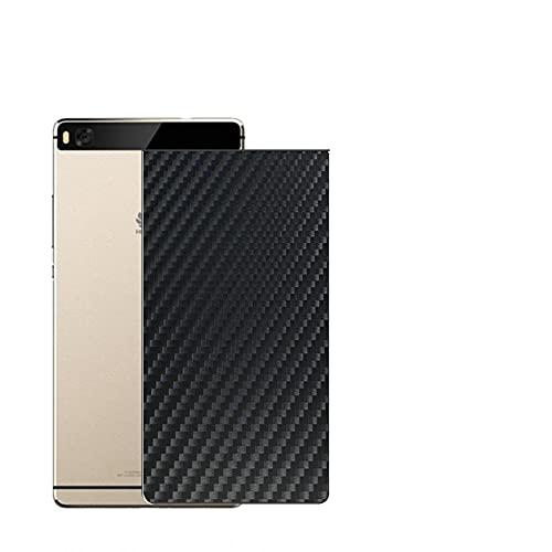 Vaxson 2 Unidades Protector de pantalla Posterior, compatible con HUAWEI P8, Película Protectora Espalda Skin Cover - Fibra de Carbono Negro