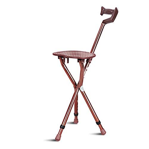 ZFLL Tafel en stoelen, inklapbaar, picknick, wandelstok van aluminium, verstelbaar, met kruk, inklapbaar, telescoopstang, 3 poten, zitstok, statief