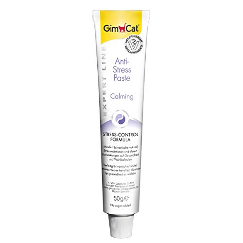 Glooke Selected Gimcat Anti-Stress Paste integratore 50g in Formato Tubo, Multicolore, Unica