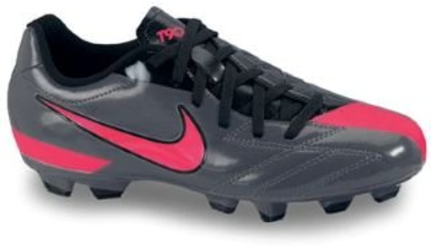 New Nike Jr T90 Shoot FG Size Yth 6y Soccer Cleat Black Red 472567