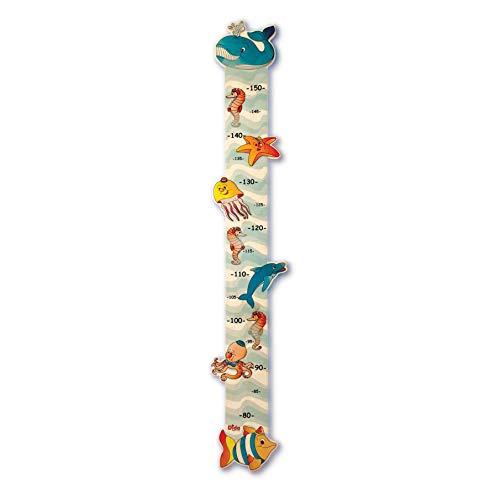 Dida-Messlatte Für Kinder Meerestiere Ist Ein Größenmesser Sie Misst Das Wachstum Der Kids Massstab-Getreu Meerestiere Dekorieren Die Messleiste