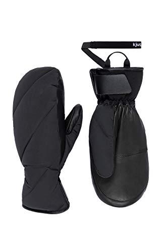KJUS Women Performance Mitten Schwarz, Damen Fausthandschuh, Größe 8 - Farbe Black