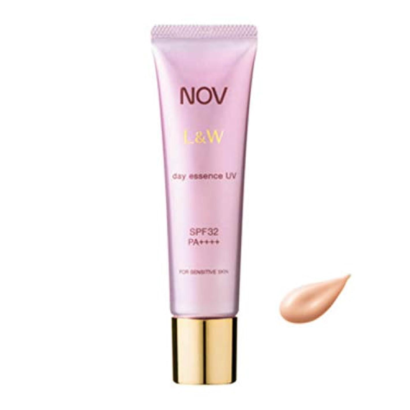 目を覚ます賞賛する打倒NOV ノブ L&W デイエッセンス UV 30g 日中用美容液 SPF32?PA++++ [並行輸入品]