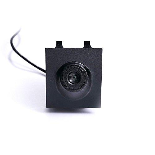 Dynavsal Véhicule spécifique à Un véhicule Vue Avant Logo Système de stationnement intégré avec CCD imperméable à l'eau IP67 Grand degré (Moyen), Noir pour Everest Front Logo Camera 2016-2017