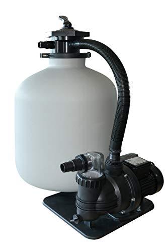 AquaForte Filtre à Sable Kit sq300 de Junior pour 35 m³ Pompe Piscine, 7,5 m³/h, 250 W