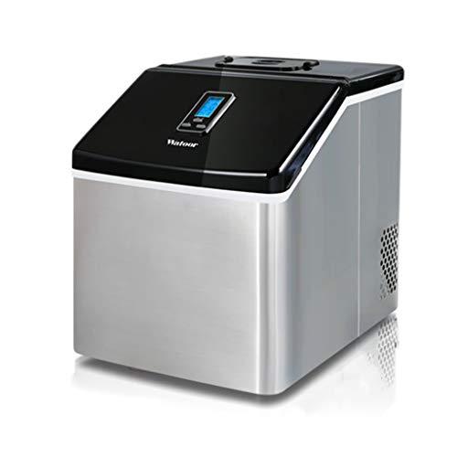 Grote ijsblokjesmachine, product 25 kg ijsblokjes per 24 uur | vierkant | compacte ijsmachines van roestvrij staal | voor keuken thuis, kantoor