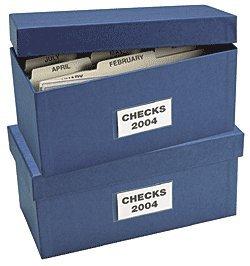 "ABC Check Storage Box w/ 12 Dividers, 5""x 9 3/4""x 4 3/8"", Blue - Set of 2"