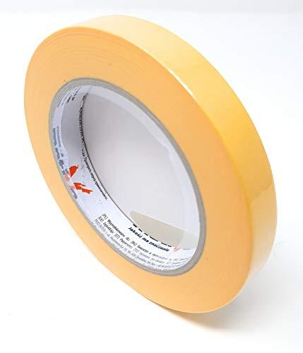 DWT-Germany 101419.01 15 mm x 50 m Präzisions Kreppband Krepp Papierabdeckband Malerkrepp Abklebeband Feinkreppband