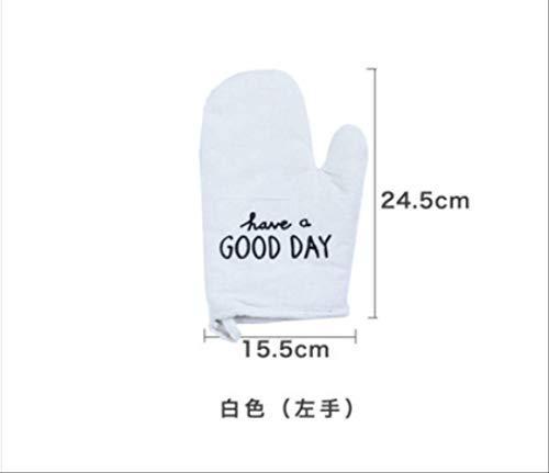Geïsoleerde handschoenen enkele Engelse letters Noordse katoen in Japanse stijl magnetronoven verbrandingsremmend katoen bakken handschoenen voor linker- en rechterhand verdikken