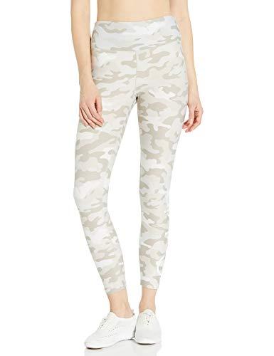Calvin Klein Damen Calvin Logo Print High Waist Tight Leggings, Camo Nu Beige Combo, Groß