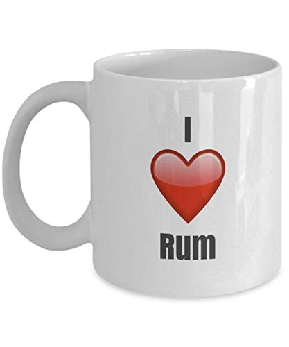 N\A Amo el Ron, la Taza de Ron, la Taza de café con Ron, los Regalos de Ron Festival de Acción de Gracias de Navidad Regalo de Amigos