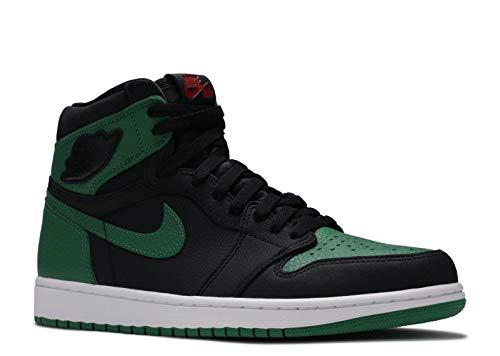 Nike Air Jordan Retro 1 High OG Black/Pine Green-White-Gym Red 555088 030 (10.5)