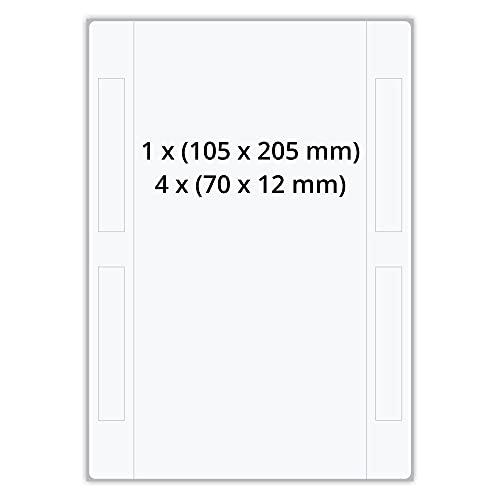 Labelident DHL Versandetiketten-Set - 105 x 205 mm - 1000 Papieretiketten auf 1000 DIN A5 Bögen, matt, Etiketten DIN A5 selbstklebend, DHL 910-300-700